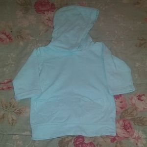 Toddler girls tunic length hoodie